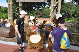 Before our picture was taken, the PhotoPass Photographer was able to capture Dale's interaction!